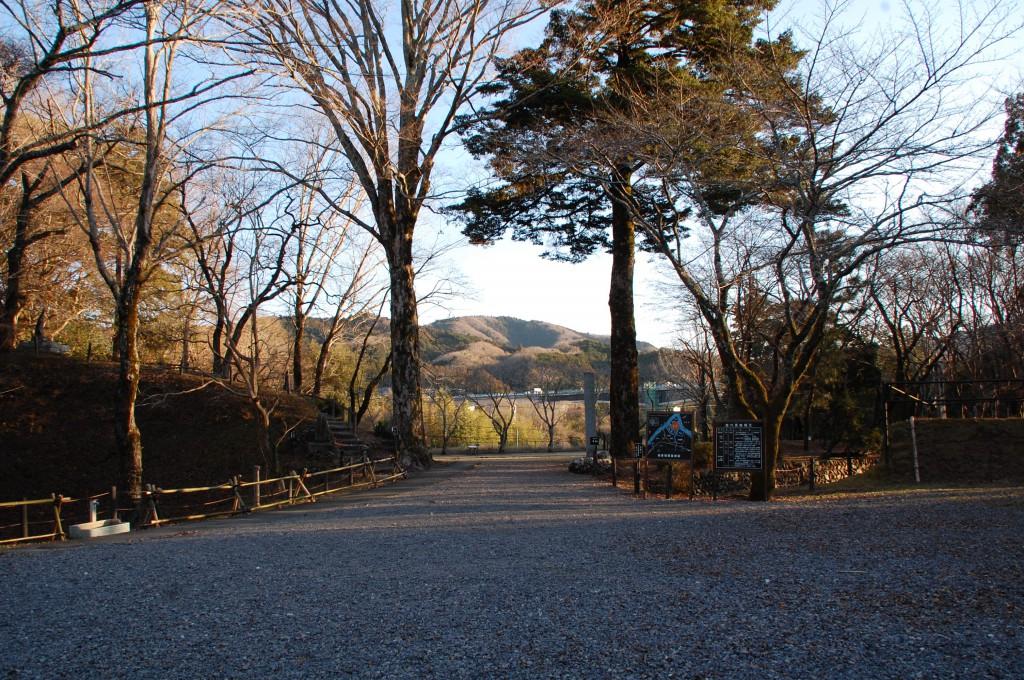 長篠城本丸への入り口