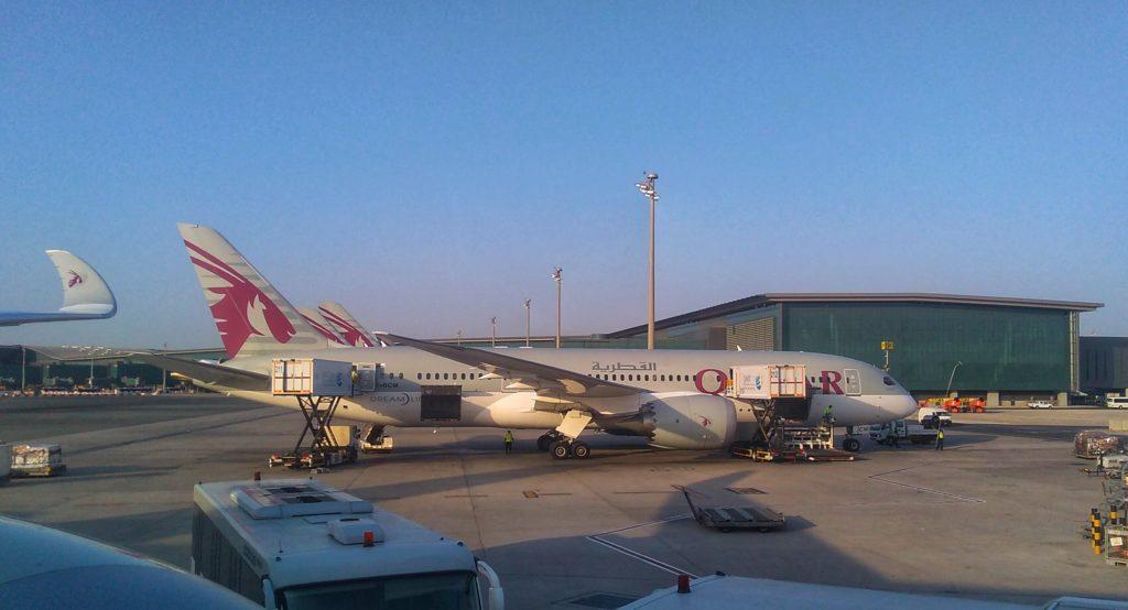 ドーハ空港に到着