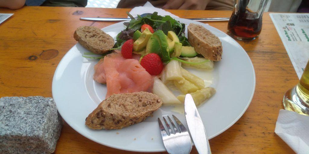シュパーゲルフェス で食べた料理