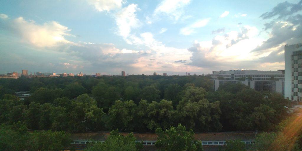 出発前 ホテル・ベルリンからの眺め